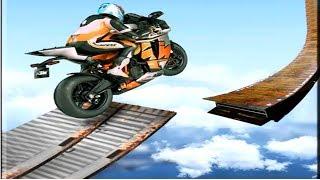 SuperHero Mega Ramp Moto Rider:  3D GT Auto Stunts ||Motor Bike Racing Game New 2019