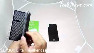 LEAGOO Elite 1 leather case hands-on at TechNave