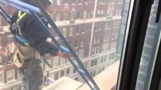 Scaffold building Superman