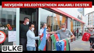 10 bin adet Türk ve Azerbaycan bayrağı dağıtıldı