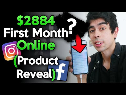 How I Made $2884 My FIRST Month Online (Product Reveal) - Shopify Dropshipping