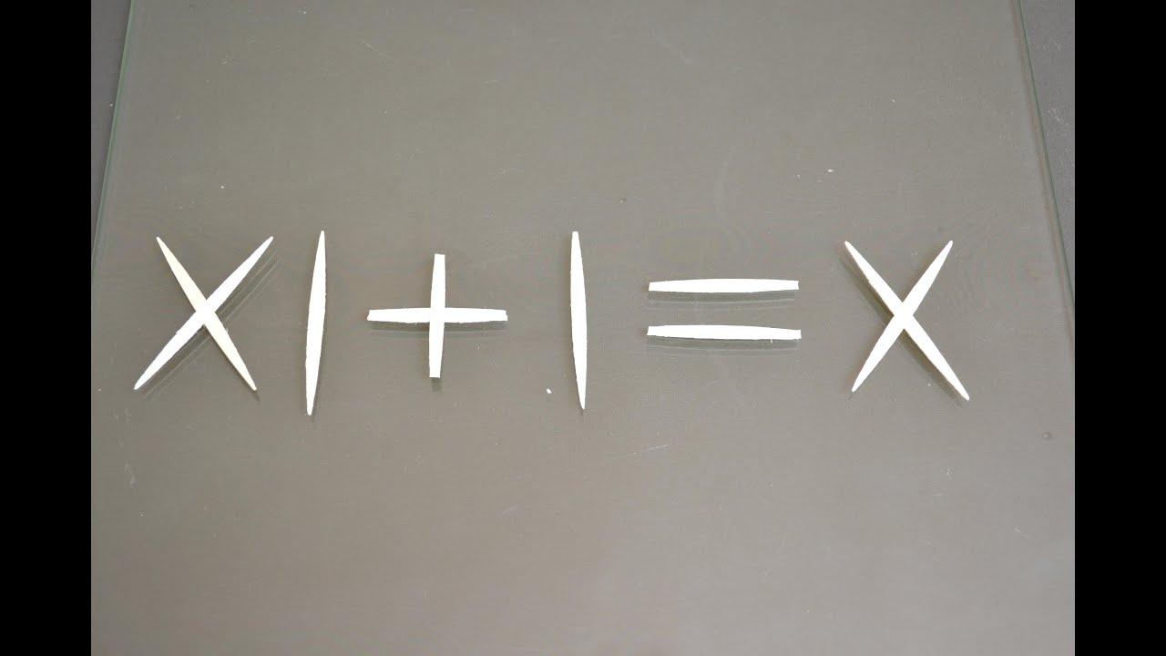 Ecuación matematica incorrecta corregirla sin tocar los palillos ...
