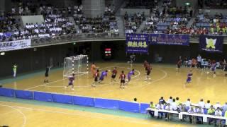 法政二高 VS 大分雄城台 前半戦 2014年 南関東総体 ハンドボール選手権大会
