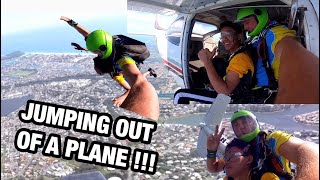 JUMPING OUT OF A PLANE - FIRST SKYDIVE with Gold Coast Skydive
