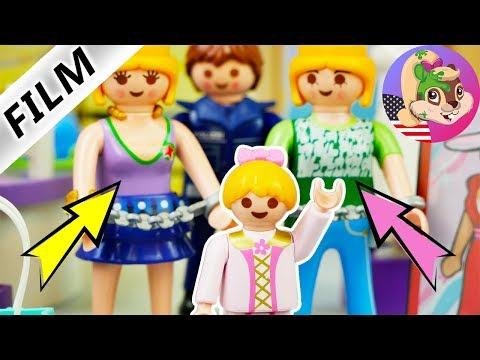 A Playmobil Story HANNAH UNMASKS THIEF TWINS at Richmond's Fashion Store Kids Series