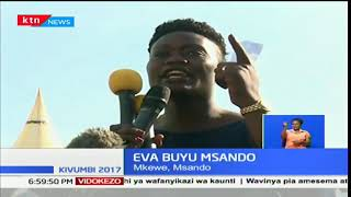 Eva Buyu Msando's last words during his husband's burial