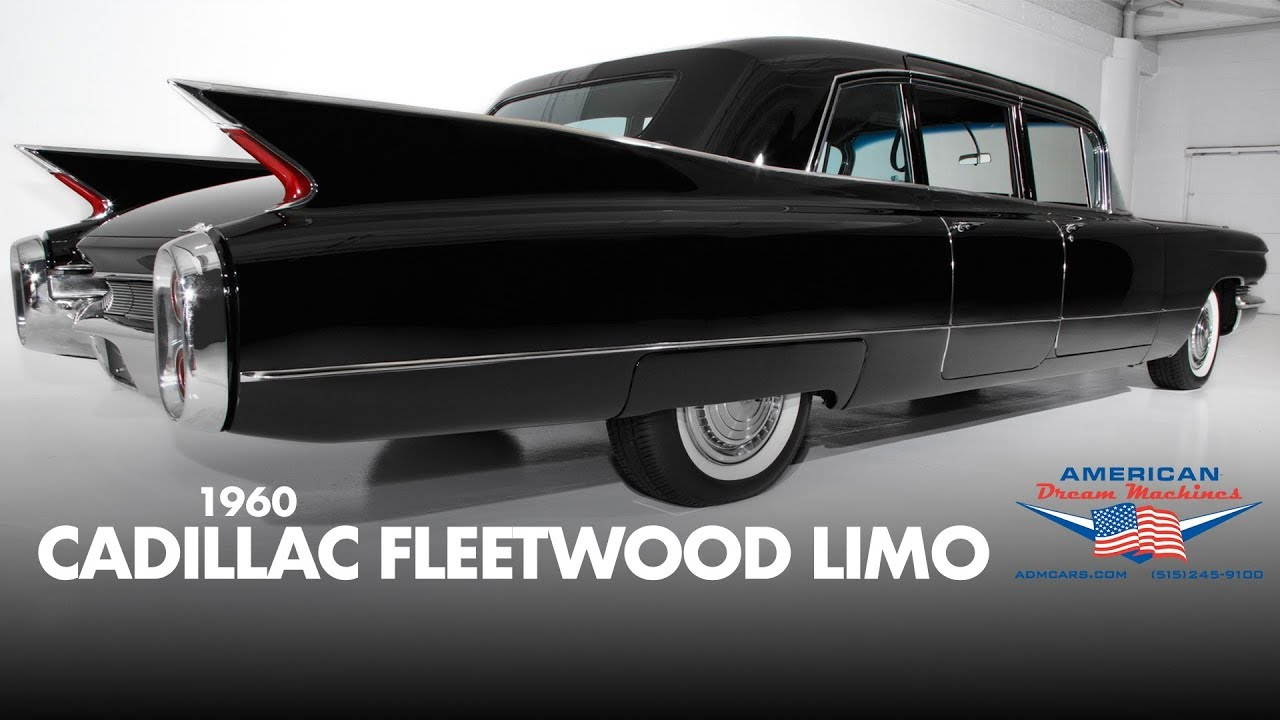 1960 Cadillac Fleetwood Limo - For Sale - Sinister Black