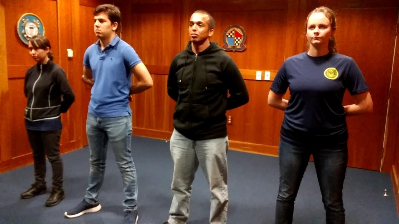 San Jose Navy swearing in before leaving  MEPS