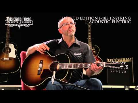 Gibson Limited Edition J-185 12-String Acoustic Guitar, demo'd by Don Ruffatto