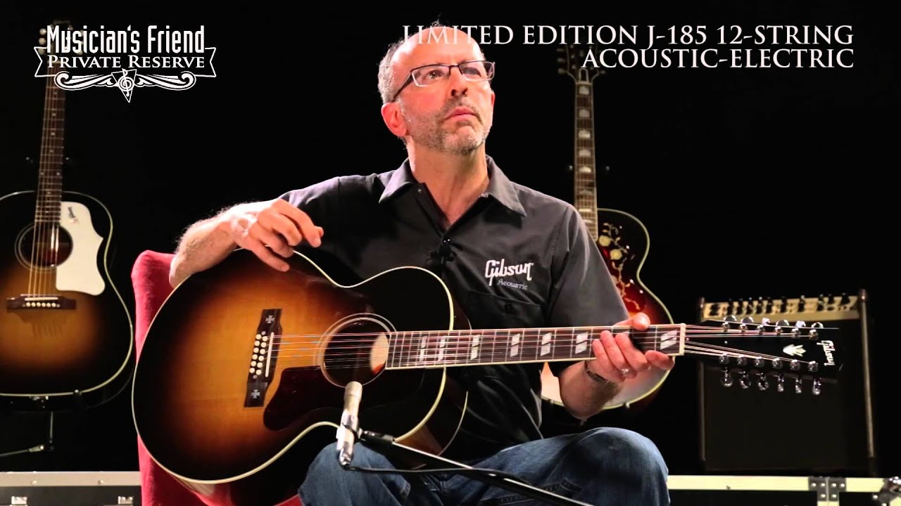 gibson limited edition j 185 12 string acoustic guitar demo 39 d by don ruffatto youtube. Black Bedroom Furniture Sets. Home Design Ideas