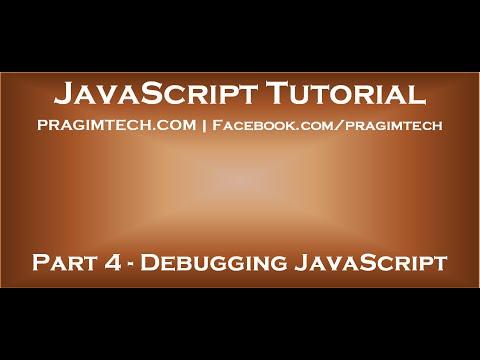 How to debug javascript in visual studio