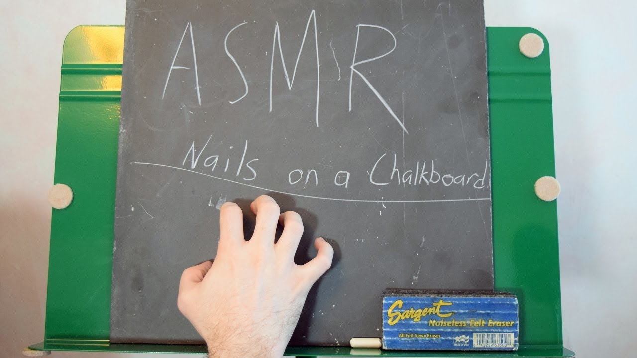 [ASMR] Nails On A Chalkboard for relaxation