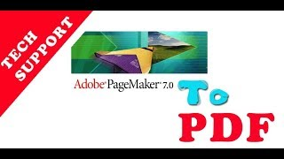 How to convert Pagemaker to PDF file offline 100%