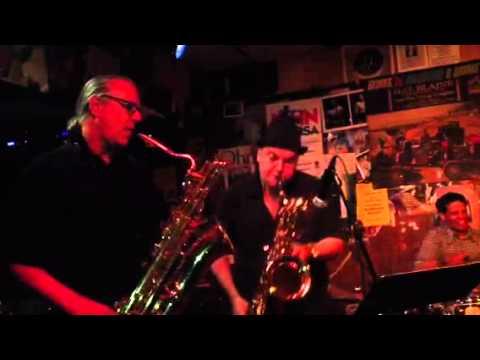 Jerry Vivino & Doug Webb battle on baritones saxes w Oleg c