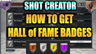 how to get hall of fame badges and grandmaster badge in nba 2k17 mycareer guide to shot creator