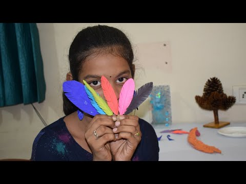 How to Make Paper Feathers | DIY Paper Feathers | Earrings with Paper Feathers | Nive tv | 019