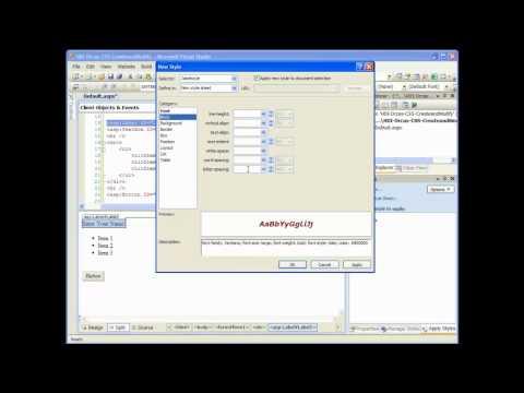 asp.net cascading style sheet (css) tutorial