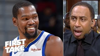 Download KD could return for a title run next season if he stays with the Warriors - Stephen A. | First Take Mp3 and Videos