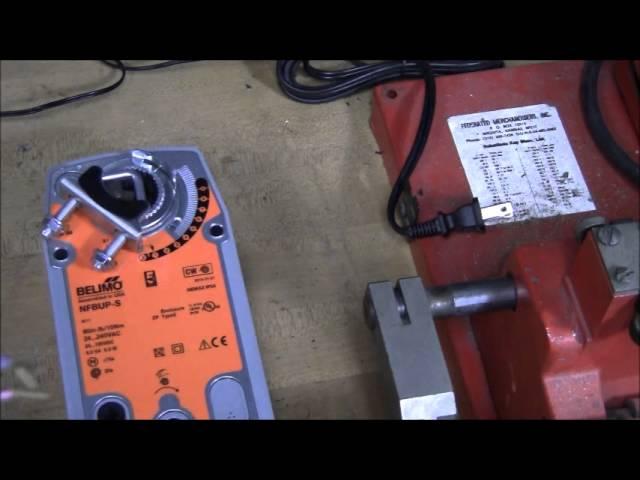 testing a damper motor belimo mo nfbup s  youtube