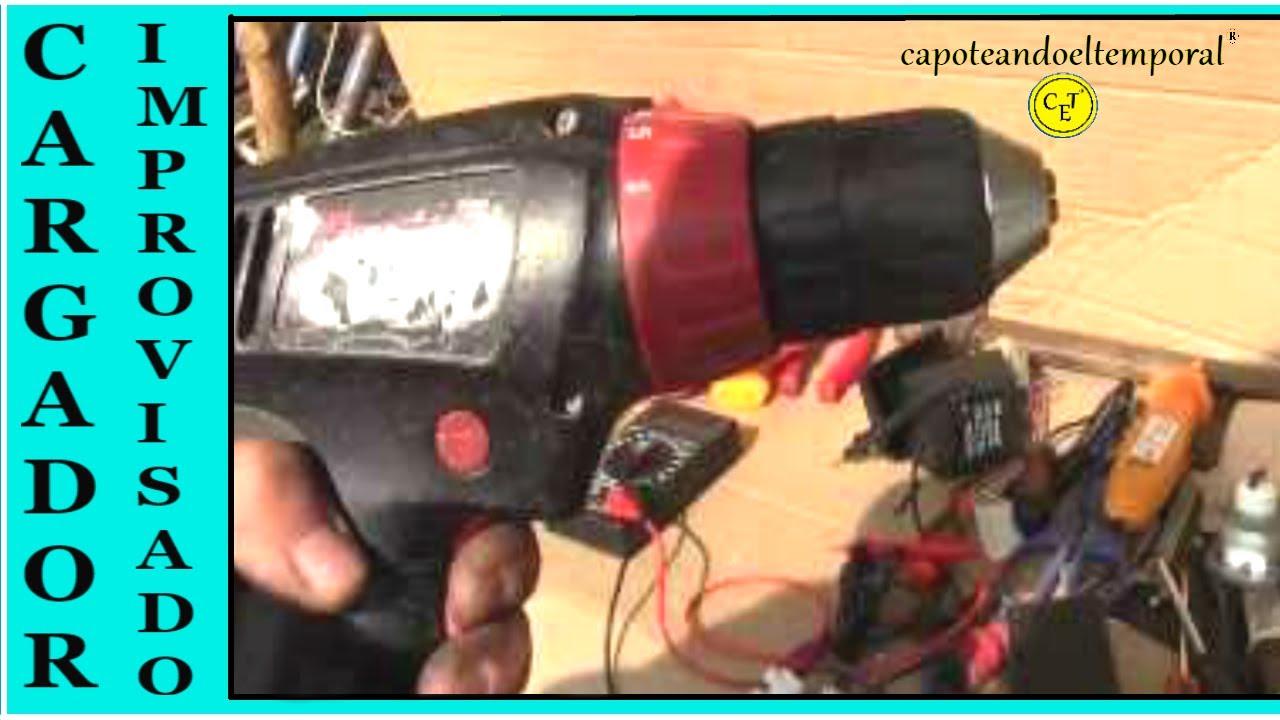 Cargador improvisado para la bater a de un taladro - Cargador de baterias ...