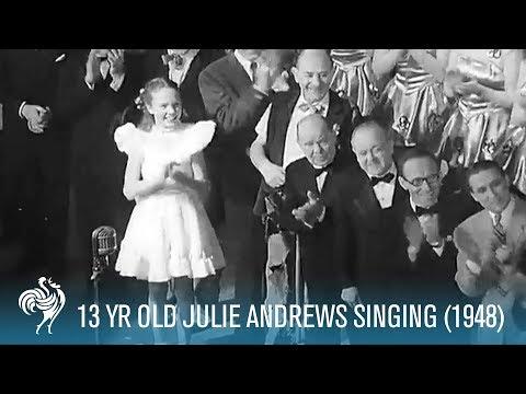 Julie Andrews (Aged 13) Sings for King George VI in 1948