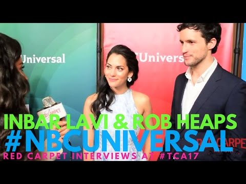 Inbar Lavi & Rob Heaps #Imposters interviewed at NBCUniversal's Winter 2017 Press TCA Tour