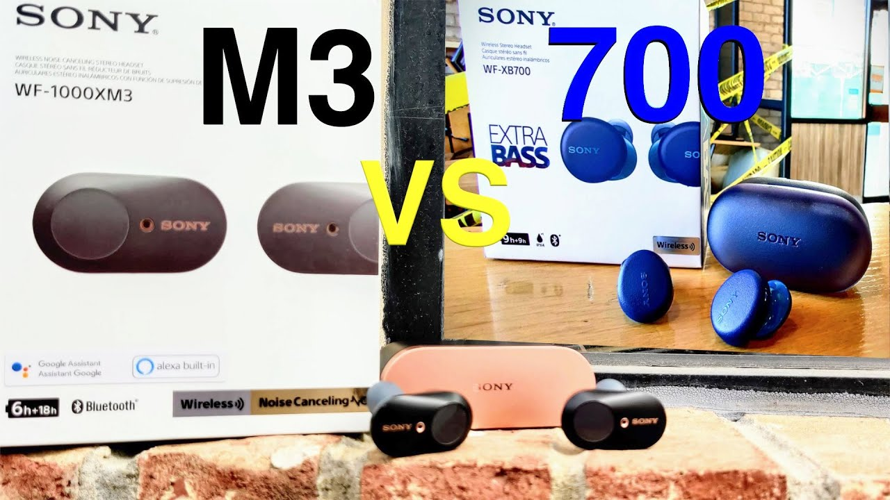 """Sony WF-1000XM3 VS Sony WF-XB700 """"What's the Difference ???"""""""