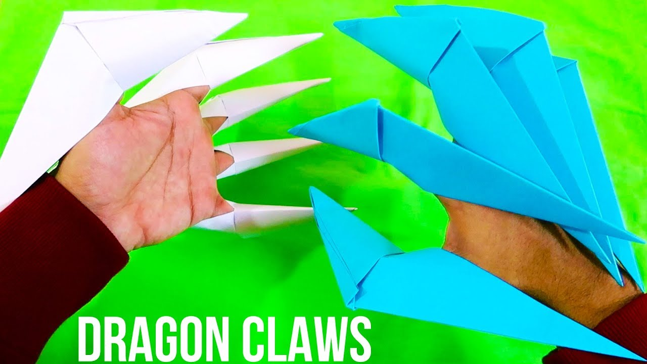 How To Make Paper Dragon Claws