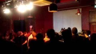 Naoko, Ritsuko, Etsuko at Buffalo Bar in Cardiff. Big big big cat! ...