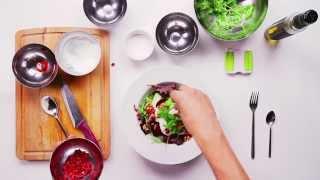 60 Second Yoghurt Detox Salad