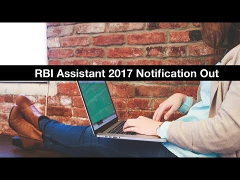 RBI Assistant 2017 Notification Out | Online Registration Started from 18th Oct