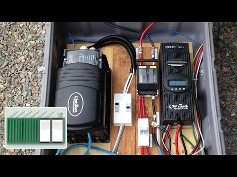 Shipping Container House - Install a charge controller and inverter to solar panels