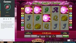 BIG WIN On Lucky Lady's Charm - £0.50 Bet(, 2016-07-02T21:37:28.000Z)