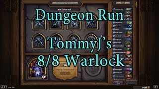 Hearthstone: Kobolds and Catacombs Warlock 8/8 Dungeon Run