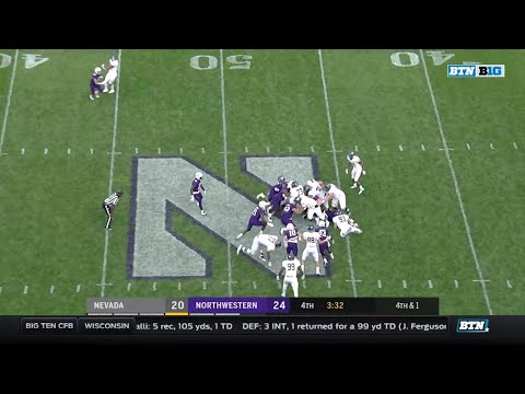 Nevada at Northwestern - Football Highlights
