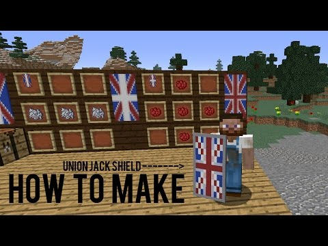 How to make Union Jack Shield In Minecraft