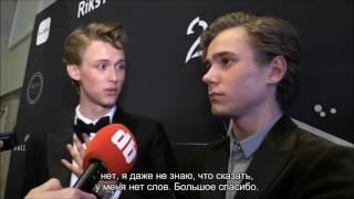 GULLRUTEN Тарьяй и Хенрик - поцелуй, интервью (Русские субтитры) | Tarjei & Henrik RUS SUB