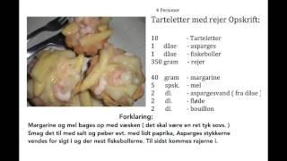 Tarteletter og rejer