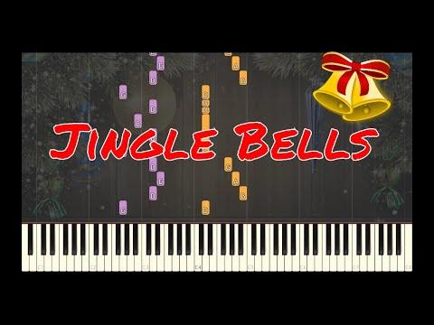 Jingle Bells Easy Piano | Christmas Carols Synthesia Tutorials | Library of Music grade 2