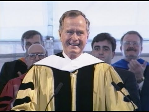 1996 Johns Hopkins Graduation - George H.W. Bush, guest speaker