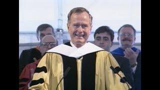 1996 Johns Hopkins Graduation - George H.W. Bush, guest speaker