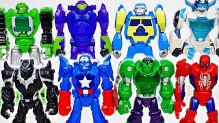 Battle Between Transformers & Avengers Giant Robot~! - ToyMart TV