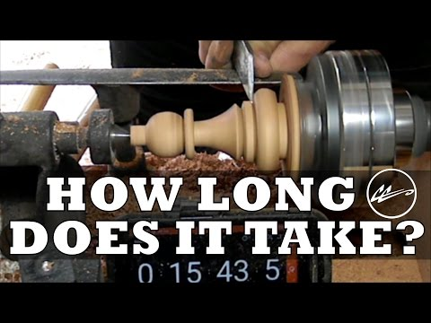 SPEED CHESS . How long does it really take to make a hand crafted wooden chess set?