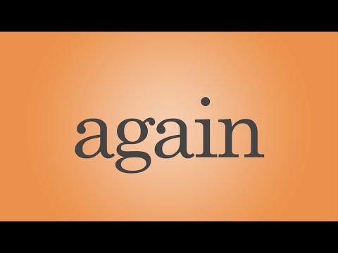 Again Song - Sight Word Again