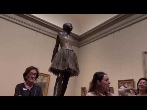 Edgar Degas 14 year old dancer statue tour guide description - 2-11-2017 NYC Metropolitan museum
