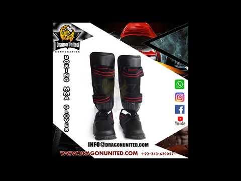 ดู muay thai High quality muay thai shin pads pro genuine leather shin paddragonunited corporation