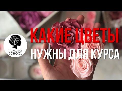 Что в коробке для курса по стабилизированным цветам Лекции + Цветы   Turagina School