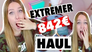 EXTREM KRASSER 842€ XXL HAUL :O | TRY ON | Bunte Tastatur - Nike - Primark - Fashion | Deutsch 2016