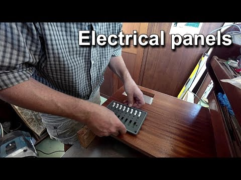 Building an electrical panel cabinet - Boat Refit - liveaboard - Tiny Home Travels With Geordie #86