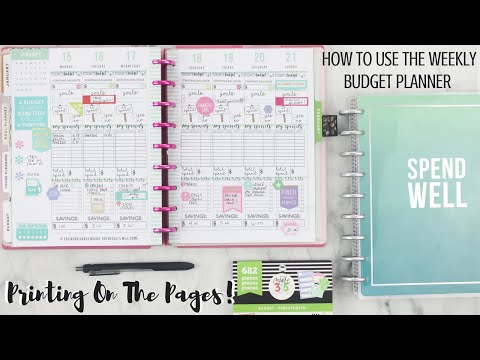 How To Use The WEEKLY BUDGET Planner Pages!🤑 | Printing on the Pages! | At Home With Quita